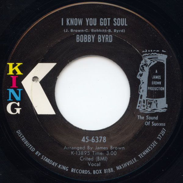 bobby byrd i know you got soul