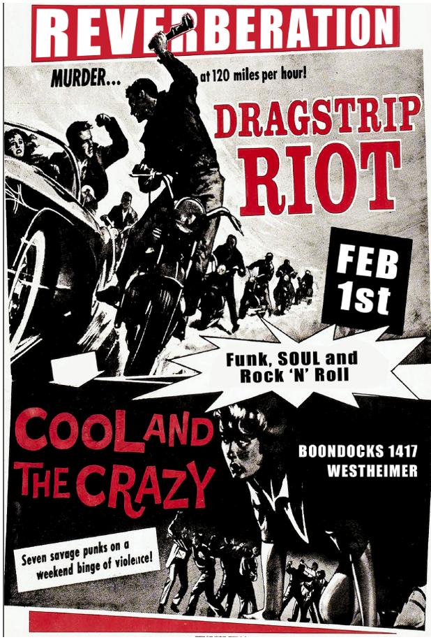 DRAGSTRIP RIOT : FEB 1st - Boondocks